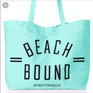 PINK Victoria's Secret Beach Bound aqua tote